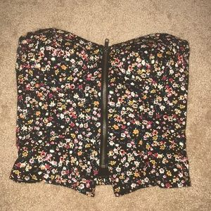 Silence & Noise floral bustier top